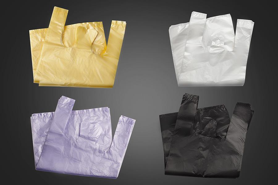 پلاستیک دسته دار سفید